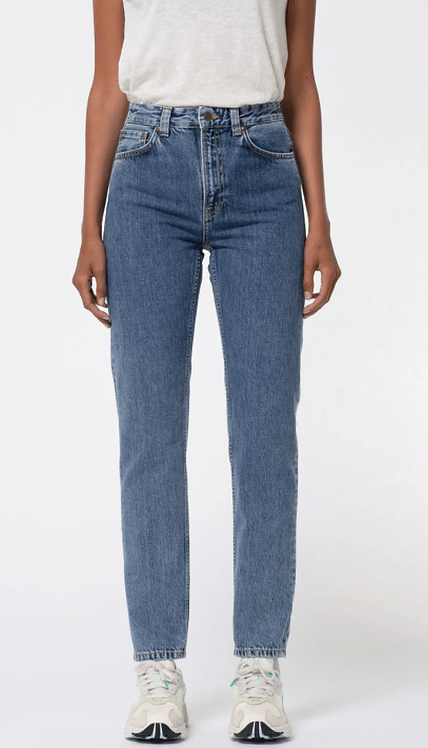Jeans Mom - Nudie Jeans - Breezy Britt, Friendly blue