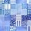"Thumbnail: Chemise - Bleu Tango - Bleu et blanc, motif ""QR Code"""