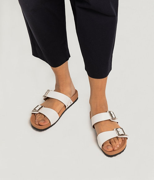 Sandales – Matt & Nat – Blanc/Noir