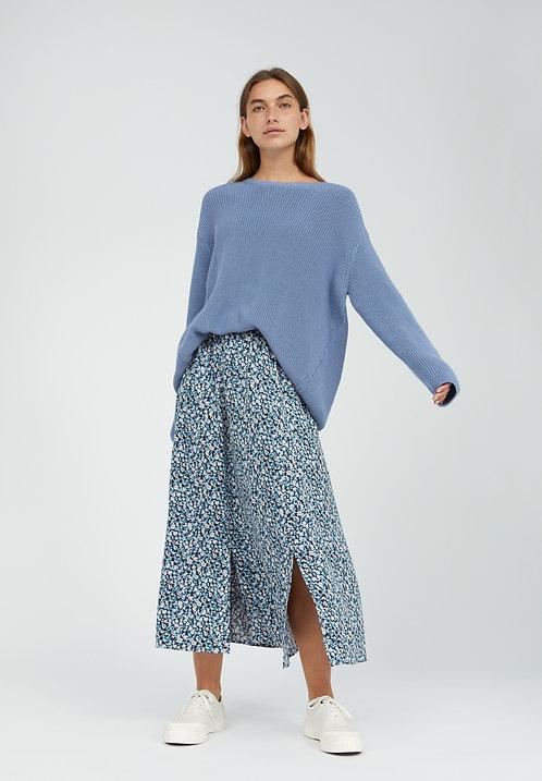 Jupe longue - Armedangels - Fleurs bleues