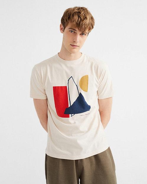 T-shirt - Thinking Mu - Motif géométrique