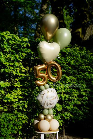 Folie boeket - groot - extra: luxe heliumtros