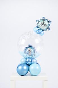 Prinses Elsa bubble boeket