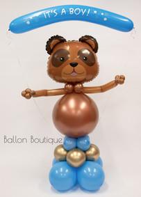 Teddy Beer - groot ballon boeket - met helium banner