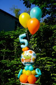 Folie boeket - groot - extra: 3 solid heliumballonnen