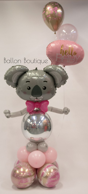 Koala - groot ballon boeket - met heliumtros