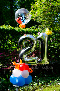Grond boeket - groot - extra's: persoonlijke bubble ballon