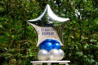 Vaderdag - klein ballon boeket, met persoonlijke tekst