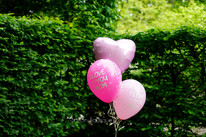 Helium boeket 3 ballonnen -  extra's: bedrukte ballonnen, folie hart solid