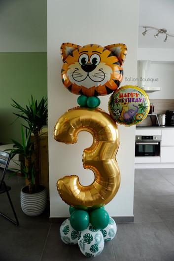 Jungle thema - groot ballon boeket