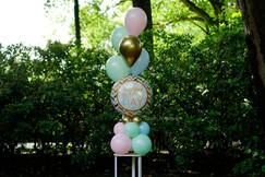 Groot folie boeket met helium boeket 5 ballonnen