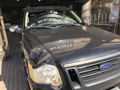 フォード 2010年式エクスプローラー ガラスコーティング・ヘッドライトプロテクション 川崎市高津区のお客様よりお預かり致しました!