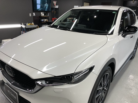 Mazda CX-5 ボディガラスコーティングと部分板金補修の事例