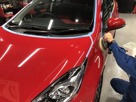 トヨタ アクアのガラスコーティング施工のご紹介!横浜市の業者様よりご依頼頂きました。