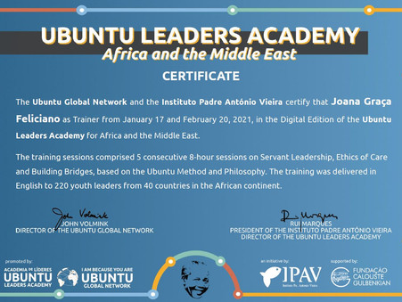 Ubuntu Leaders Academy África e Médio Oriente - os resultados e testemunho