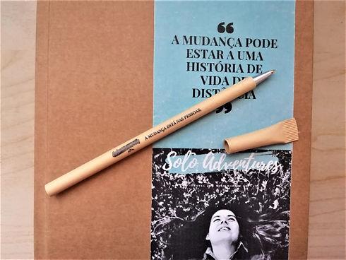 caneta reciclada Solo Adventures