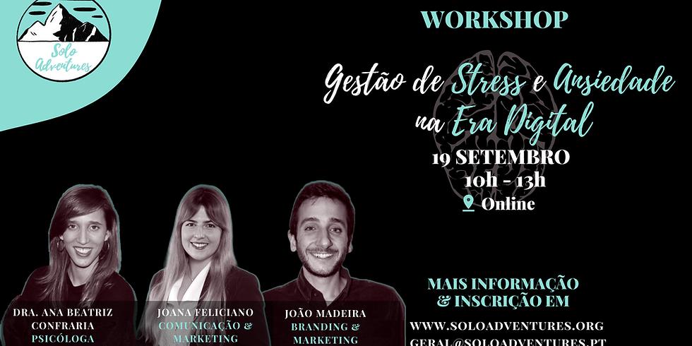 Workshop E-LEARNING   Gestão de Ansiedade e Stress na Era Digital