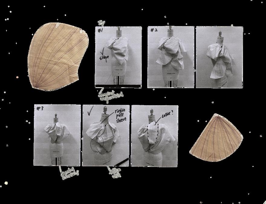 Design Development of Petal Shape Draping 01
