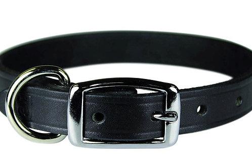 "10.5-13.5"" Black Leather Collar"