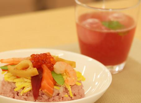 果実酢(のむお酢)deちらし寿司