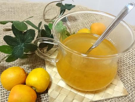 毎週月曜日更新中!松本堂レシピ 〈ホットdeハニージンジャー梅酢割り〉