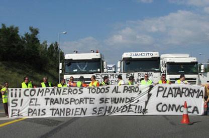 Manifestaciones del 6 de junio de 2008 a favor de la huelga de transportistas por el alza de los precios del petroleo