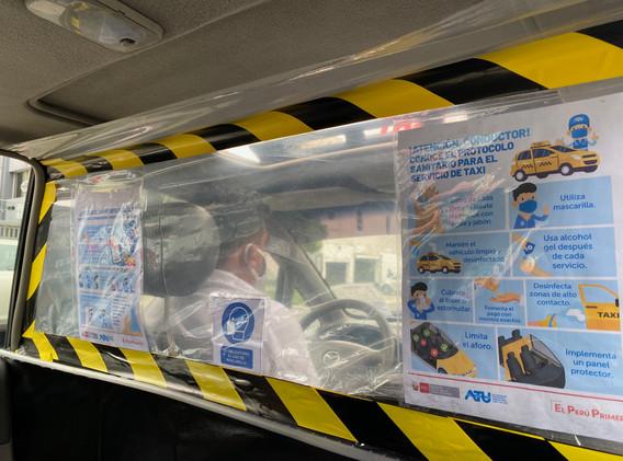 Normes de biosécurité des taxis liméniens