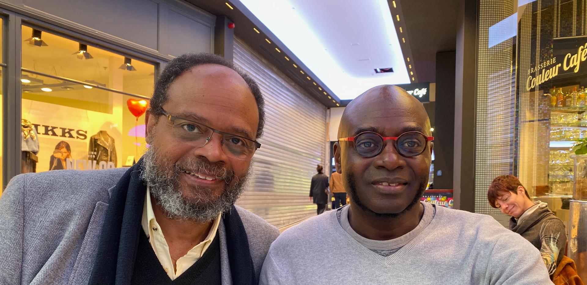 Avec l'écrivain Joseph N'dwaniye