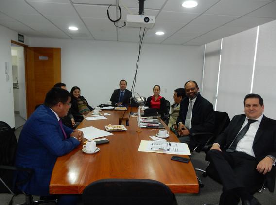 Abogado resp. Dr Victor Chávez, Pres. Cam Bélgica & Luxemburgo Guy O. Vanackeren, Cámara de Rumania Pres. Eduardo Samaniego