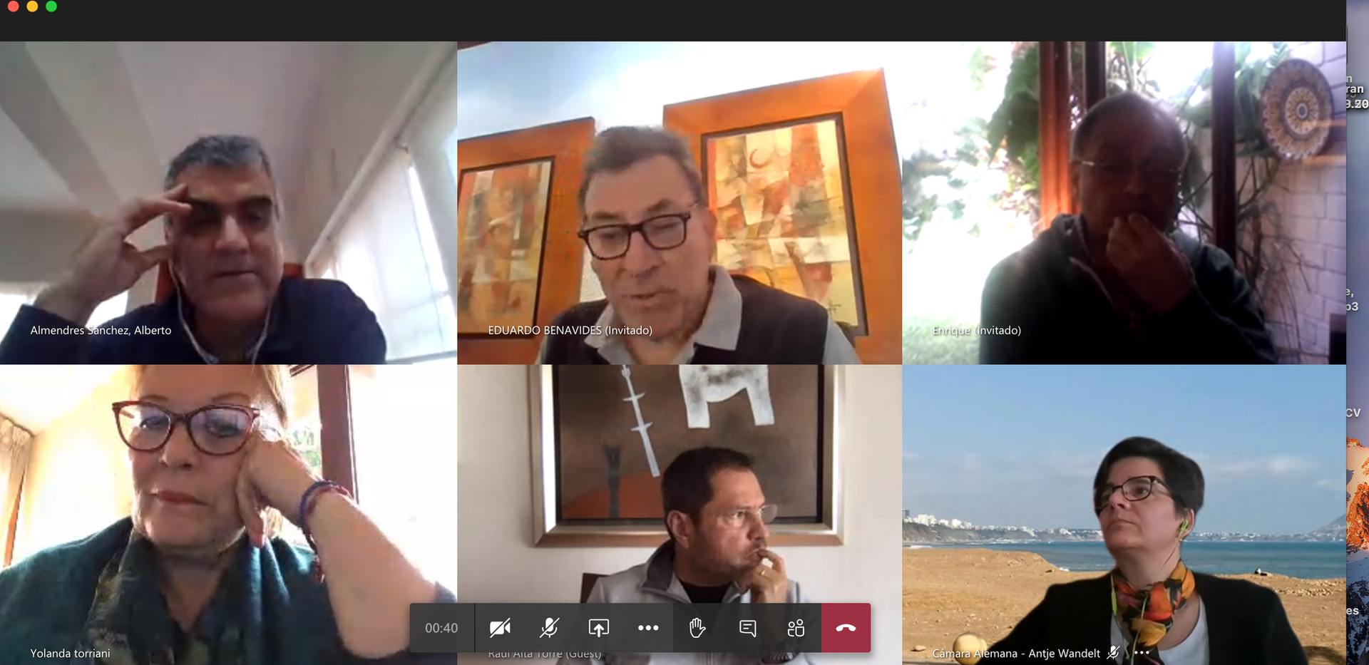 EuroCámaras reuniones virtuales