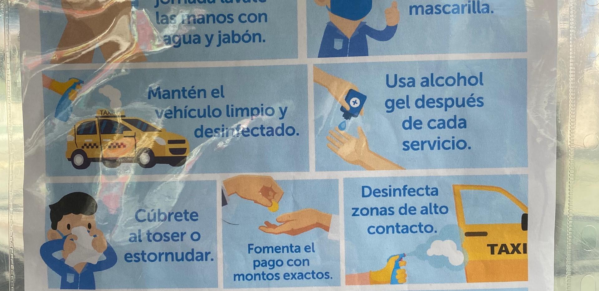 Normes de vio sécurité des taxis de Lima
