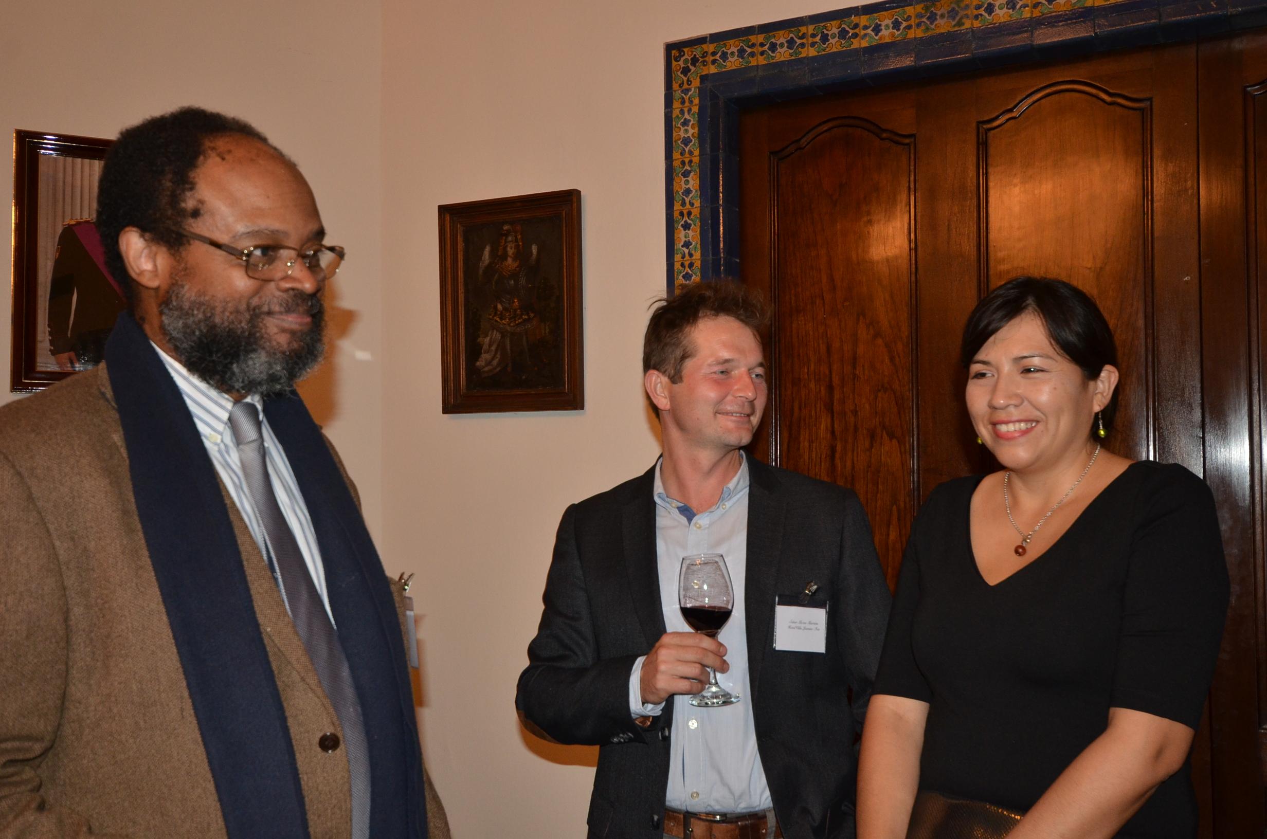 Avec M. Mozes Martens et son épouse