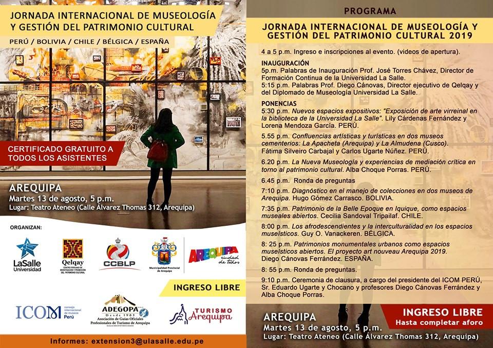 Jornada Internacional de Museologia y Gestión del Patrimonio Cultural.
