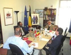 Con Su Excelencia Michel Dewez