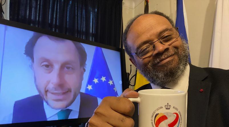 con S.E Diego Mellado Embajador de la Unión Europea en el Perú