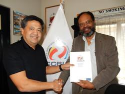 With M. Carlos Cabrejos