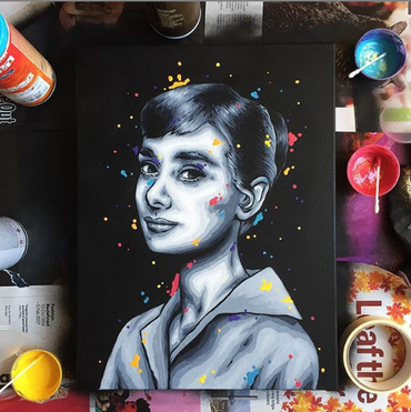 Audrey Hepburn by Zabou