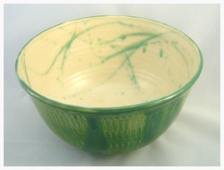 Green and White Bowl