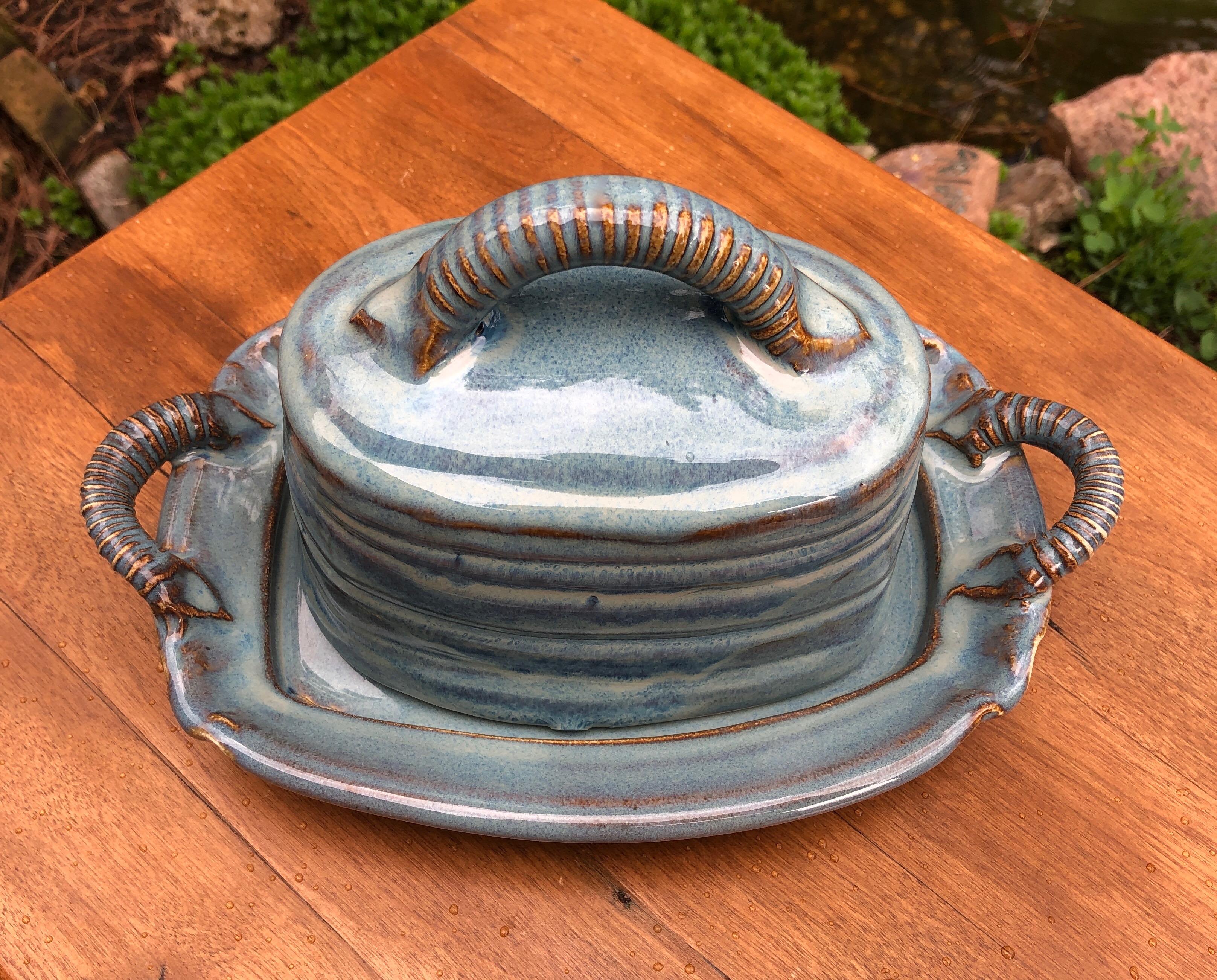 Butter Dish Blue Rutile