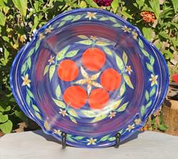 Cobalt Blue Bowl with Oranges