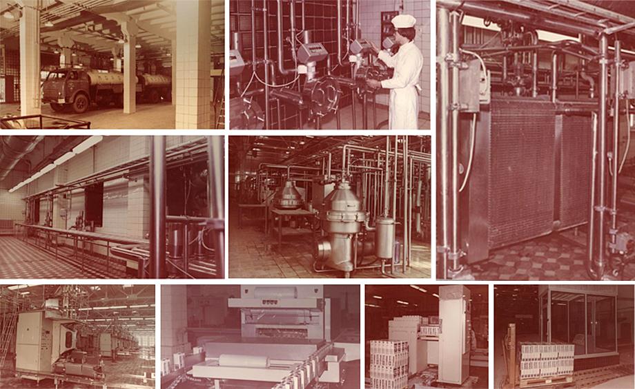 В 1962 г. создано московское производственное объединение «Молоко».