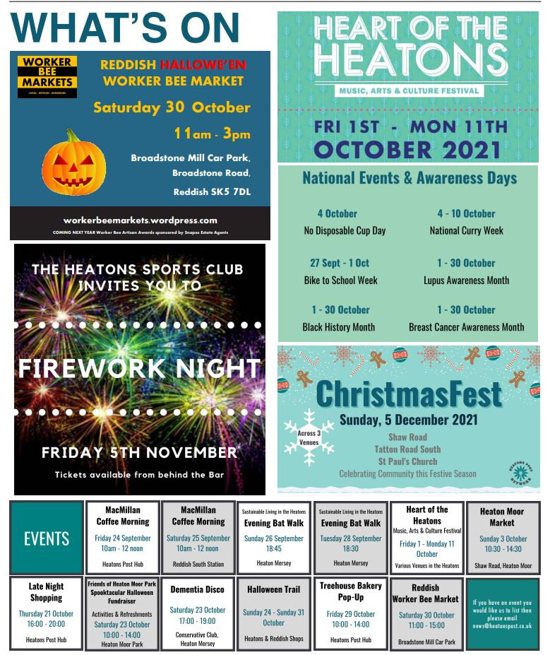 What's On listings for October