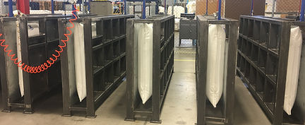 dunnage air bags in leak test