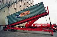 Discharging a container liner
