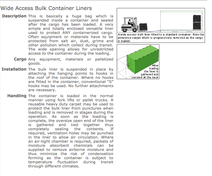Container Liners Types