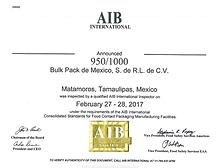 Bulk Pack AIB Certificate 2017