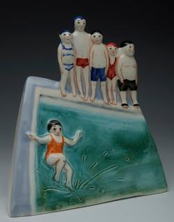 Школьный бассейн (фрагмент)