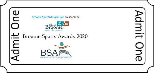 Broome Sports Awards 2020 Ticket