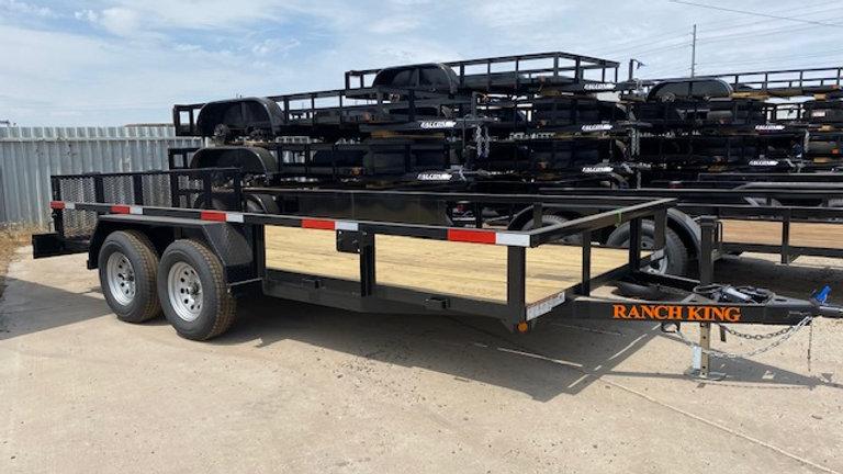 Ranch King 8.5x16 Tandem Axle Heavy Duty Utility W/Breaks And Ramps