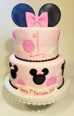 Minnie Mouse Ears Cake